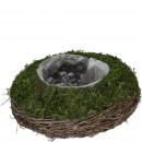 Plant bowl Emily, D24cm, H10cm, natural